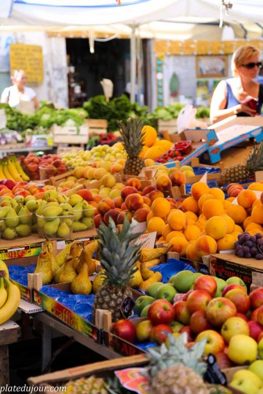 Fruits food market in Siracusa Sicily