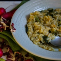 Risotto with courgettes and carrots