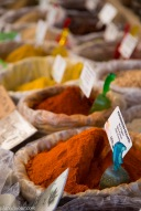 Spices food market in Siracusa Sicily
