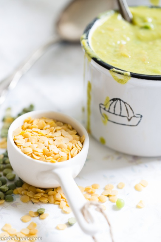 Grean peas vegan soup 2