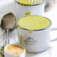 Vegan Green Pea soup /Weganska zupka groszkowa